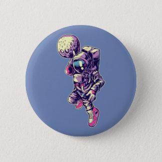 Bóton Redondo 5.08cm Botão do húmido da lua do astronauta - NBA