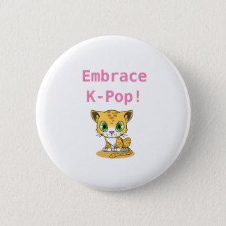 Bóton Redondo 5.08cm Botão do K-Pop