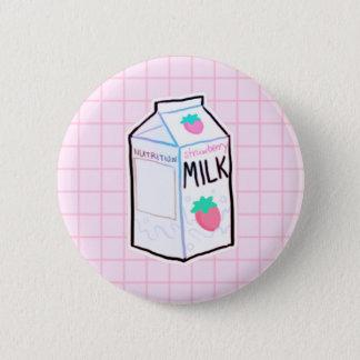 Bóton Redondo 5.08cm Botão do leite da morango