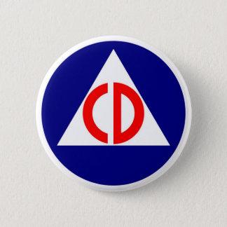 Bóton Redondo 5.08cm Botão do logotipo da defesa civil
