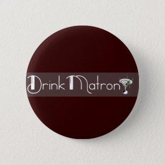 Bóton Redondo 5.08cm Botão do logotipo da matrona da bebida