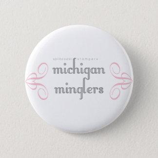Bóton Redondo 5.08cm Botão do logotipo de Michigan Minglers