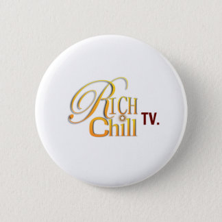 Bóton Redondo 5.08cm Botão do logotipo de RichChillTV