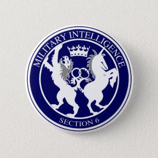 Bóton Redondo 5.08cm Botão do logotipo MI6