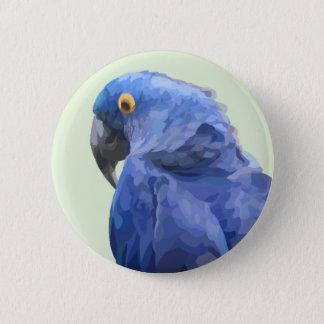 Bóton Redondo 5.08cm Botão do Macaw do jacinto