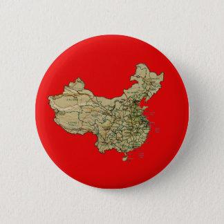 Bóton Redondo 5.08cm Botão do mapa de China