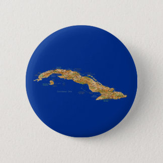 Bóton Redondo 5.08cm Botão do mapa de Cuba