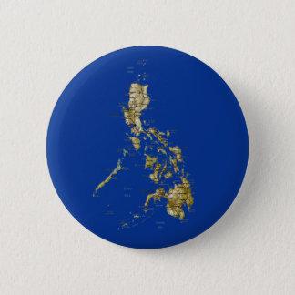 Bóton Redondo 5.08cm Botão do mapa de Filipinas