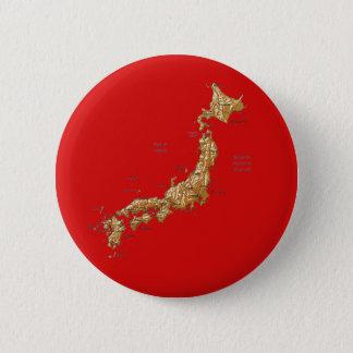 Bóton Redondo 5.08cm Botão do mapa de Japão