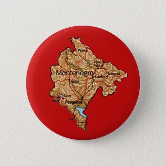 Bóton Redondo 5.08cm Botão do mapa de Montenegro
