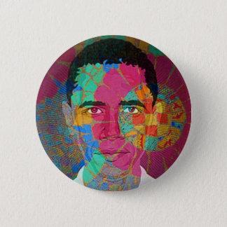 Bóton Redondo 5.08cm Botão do Mosaico-estilo de Obama