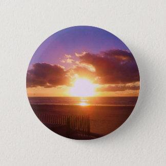 Bóton Redondo 5.08cm Botão do nascer do sol da praia