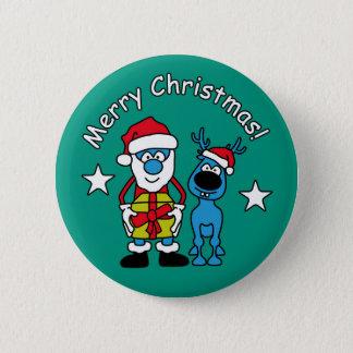 Bóton Redondo 5.08cm Botão do Natal