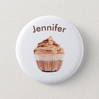 Bóton Redondo 5.08cm Botão do nome de etiqueta do cupcake do chocolate