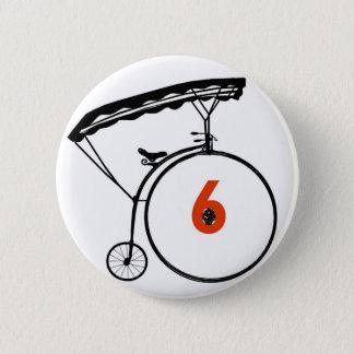 Bóton Redondo 5.08cm Botão do número 6 - prisioneiro - bicicleta