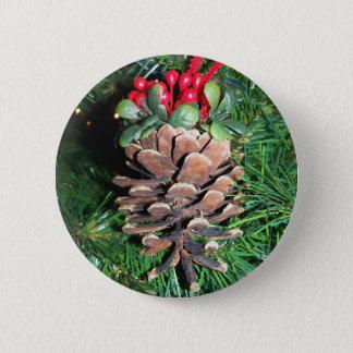 Bóton Redondo 5.08cm Botão do ornamento do cone do pinho