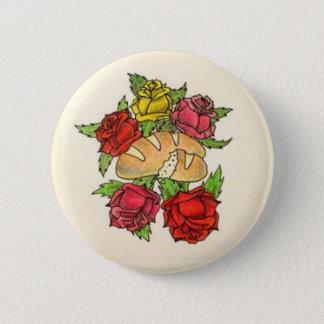 Bóton Redondo 5.08cm Botão do pão e dos rosas