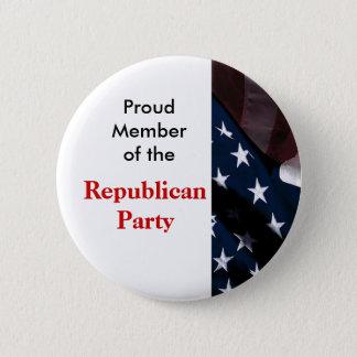 Bóton Redondo 5.08cm Botão do Partido Republicano