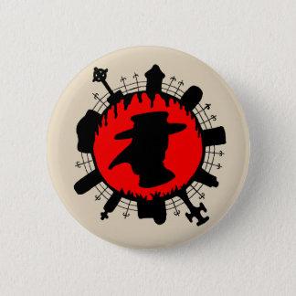 Bóton Redondo 5.08cm Botão do pendente do praga