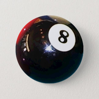 Bóton Redondo 5.08cm botão do Pin do crachá da bola de piscina 8-Ball