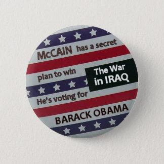 Bóton Redondo 5.08cm Botão do plano secreto de Obama