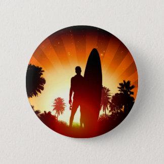 Bóton Redondo 5.08cm Botão do por do sol do surfista