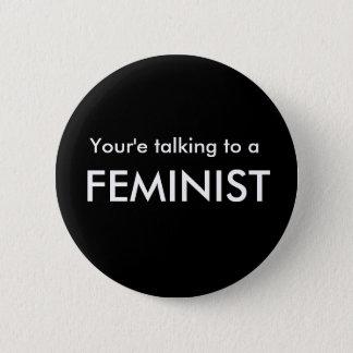 Bóton Redondo 5.08cm Botão do Pro-Feminismo