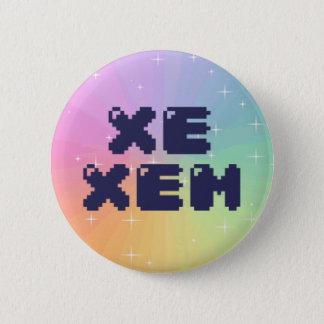 Bóton Redondo 5.08cm Botão do pronome de Xe Xem