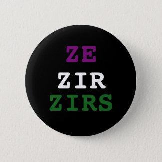 Bóton Redondo 5.08cm Botão do pronome de Ze/zir/zirs