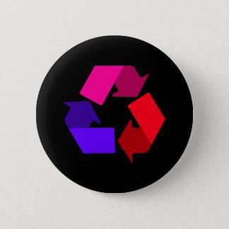 Bóton Redondo 5.08cm botão do reciclar