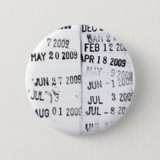 Bóton Redondo 5.08cm Botão do selo de data da biblioteca