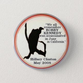 Bóton Redondo 5.08cm Botão do sillhouette do abutre de Hillary