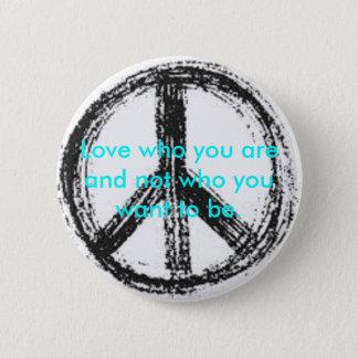 Bóton Redondo 5.08cm Botão do sinal de paz com citações bonitos