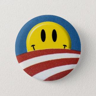 Bóton Redondo 5.08cm Botão do smiley face do logotipo de Obama