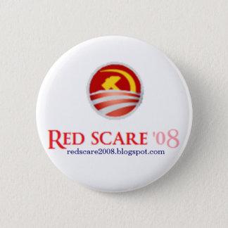 Bóton Redondo 5.08cm Botão do susto vermelho