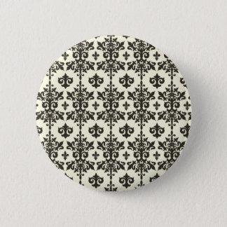 Bóton Redondo 5.08cm Botão do teste padrão de Fleur