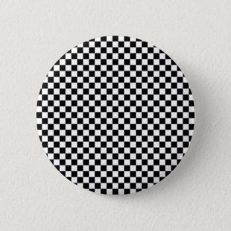 Bóton Redondo 5.08cm Botão do teste padrão do tabuleiro de damas