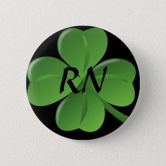 Bóton Redondo 5.08cm Botão do trevo da folha da enfermeira quatro