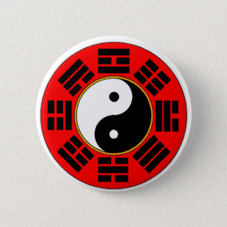 Bóton Redondo 5.08cm Botão do trigram de Bagua