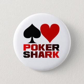 Bóton Redondo 5.08cm Botão do tubarão do póquer
