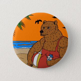 Bóton Redondo 5.08cm Botão do urso da praia