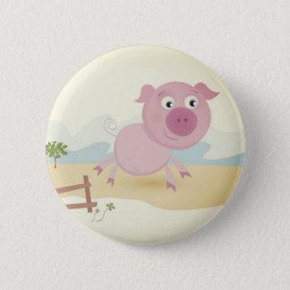 Bóton Redondo 5.08cm Botão do vintage dos desenhistas com porco