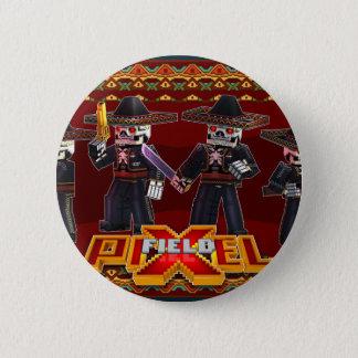 Bóton Redondo 5.08cm Botão dos esqueletos do Mariachi do jogo | de