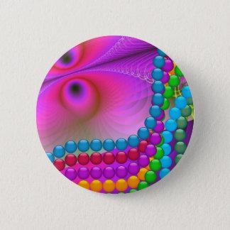 Bóton Redondo 5.08cm Botão dos Fractals do carnaval