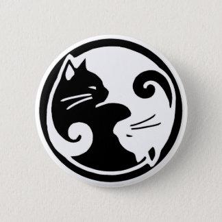Bóton Redondo 5.08cm Botão dos gatos de Yin Yang