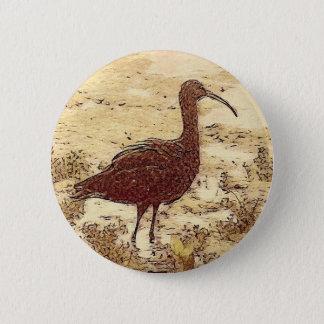 Bóton Redondo 5.08cm Botão dos íbis do pântano