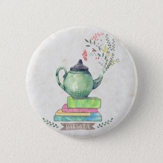 Bóton Redondo 5.08cm Botão dos livros & do chá