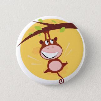 Bóton Redondo 5.08cm Botão dos MIÚDOS com desenho do macaco