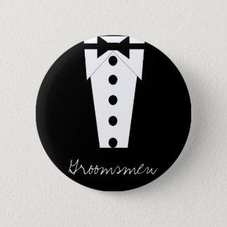 Bóton Redondo 5.08cm Botão dos padrinhos de casamento