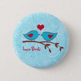 Bóton Redondo 5.08cm Botão dos pássaros do amor